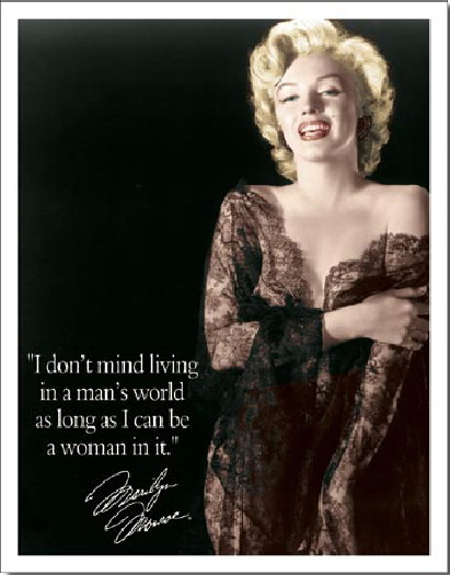 Marilyn Monroe Living Room Decor: Marilyn Monroe I Don't Mind Living In A Man's World Photo