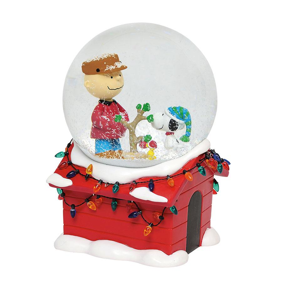 Peanuts Charlie Brown Snoopy Christmas Musical 7″ Water Globe NEW ...