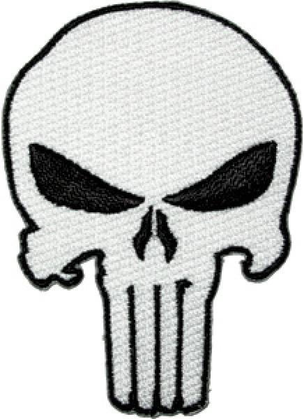 the punisher white skull logo large jacket embroidered