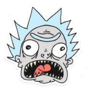 Rick and Morty Bushworld Adventures Flying Ute Scene Metal Enamel Pin NEW UNUSED
