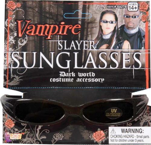3073a980d8 Vampire Slayer Style Glasses with Black UV Lenses Goth Dracula ...