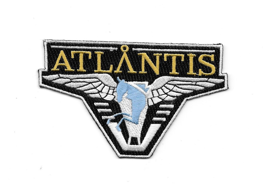 Stargate Atlantis TV Series Popular Pegasus Logo Embroidered Patch NEW UNUSED