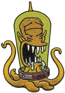 NEW UNUSED The Simpsons Blinky The Three Eyed Mutant Fish Embroidered Patch