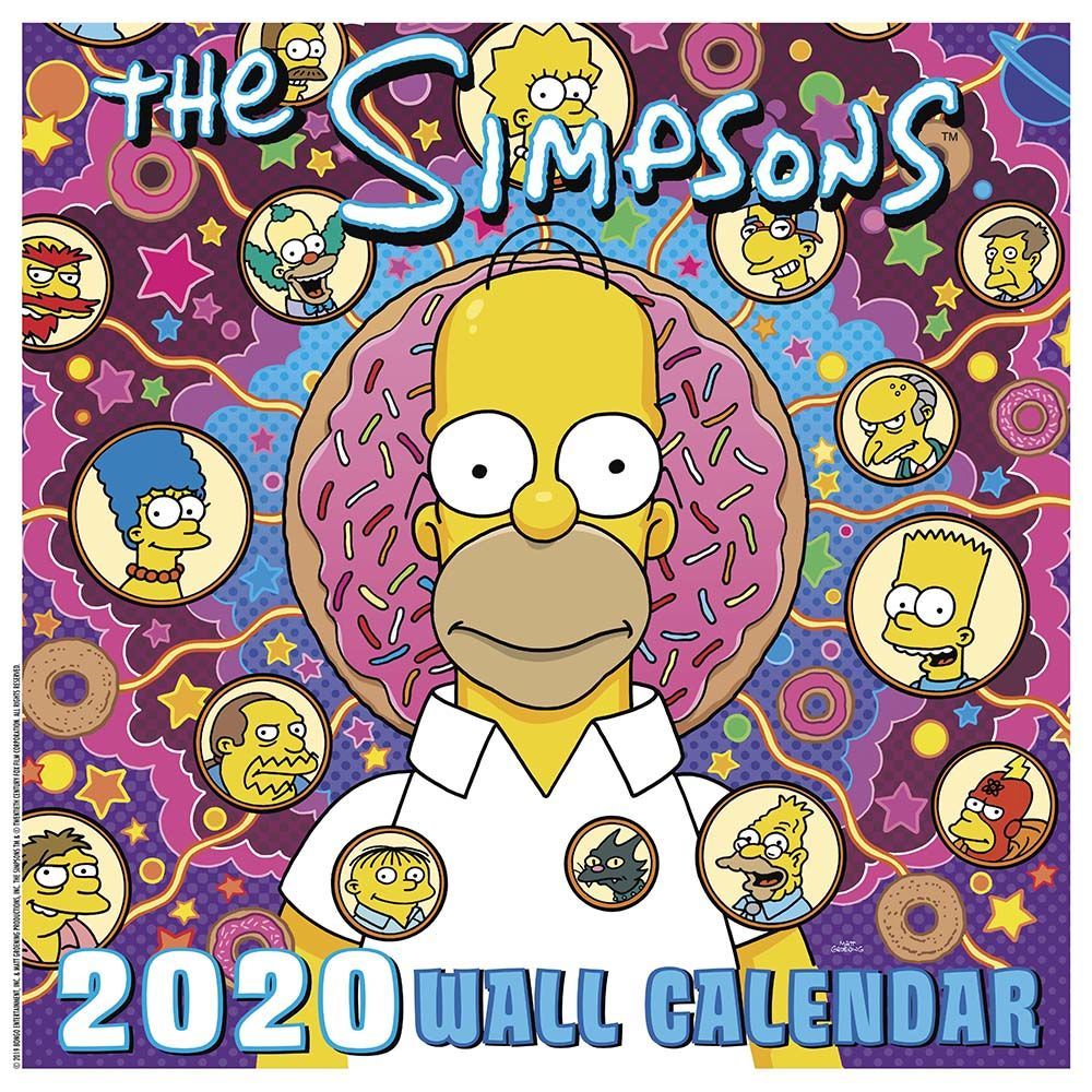 Calendrier Om 2020 16.The Simpsons Animated Tv Series 16 Month 2020 Wall Calendar New Sealed