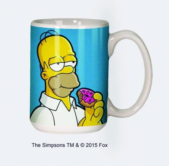 The Simpsons Homer Eating A Donut 12 Oz Ceramic Coffee Mug