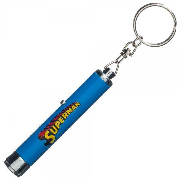 Superman 3 S Chest Symbol Logo Projection Flashlight Keychain