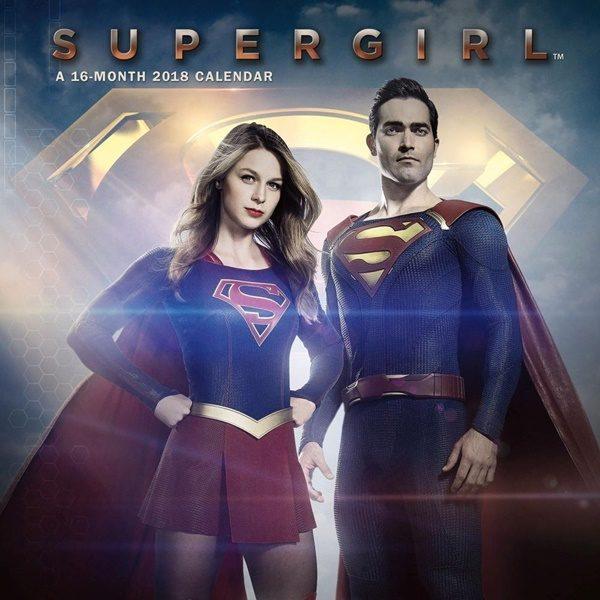 DC Comics Supergirl TV Series 16 Month 2018 Photo Wall Calendar