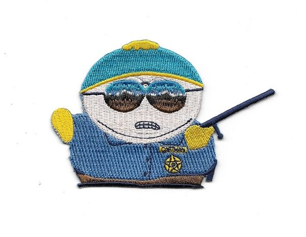 South Park TV Series Officer Cartman Figure Embroidered Patch