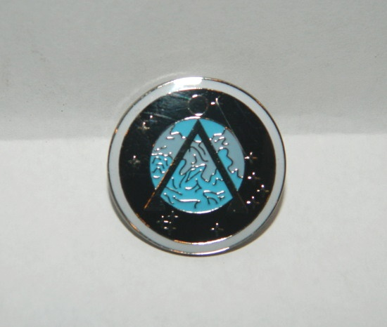 Stargate SG-1 TV Series Project Earth Logo Enamel Metal Pin