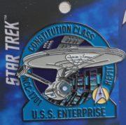 058b614f883 Star Trek The Original Series USS Enterprise Refit Metal Enamel Pin NEW  UNUSED FANSETS