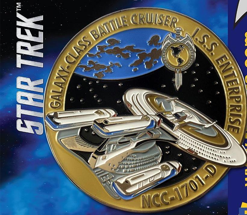 Star Trek The Next Generation Mirror Universe I S S  Enterprise Enamel  Metal Pin
