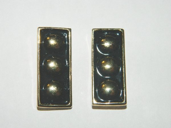 Star Trek The Next Generation Vice Admiral Pair Of Metal Collar Pins
