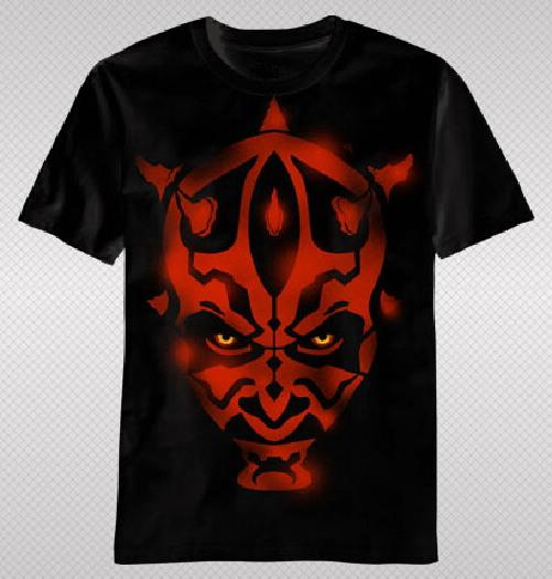 Star Wars Darth Maul Face Stencil Design T Shirt