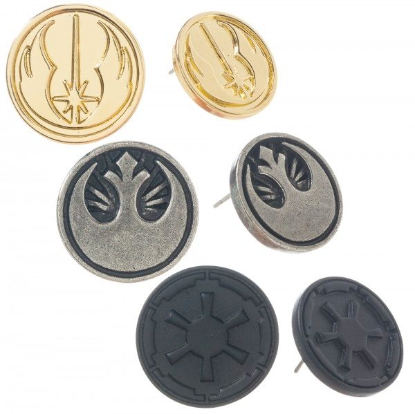 Star Wars Jedi Rebel And Empire Symbols Earrings Set Of Three