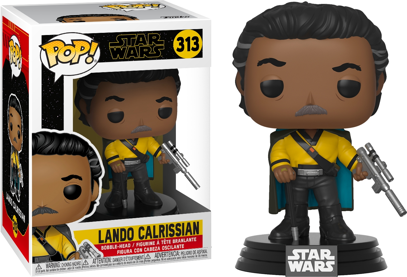 Star Wars Ix The Rise Of Skywalker Lando Calrissian Vinyl Pop Figure 313 Funko Starbase Atlanta
