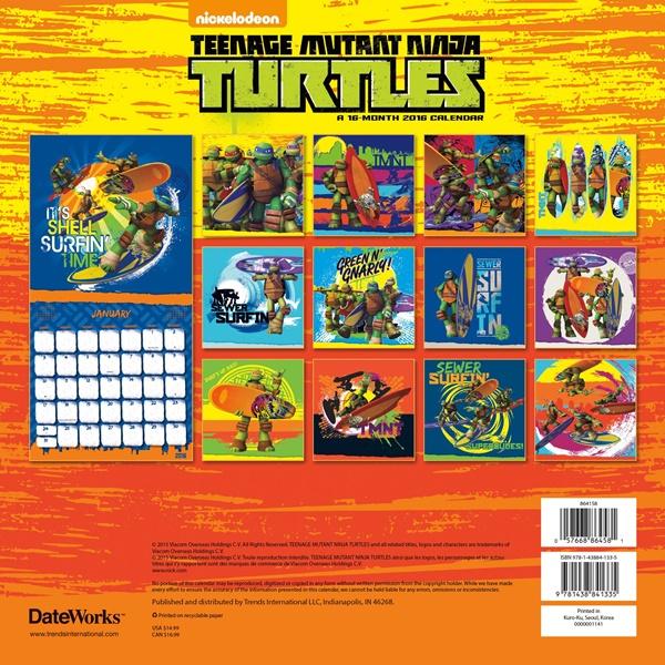 Art Calendar Atlanta : Teenage mutant ninja turtles comic art month wall