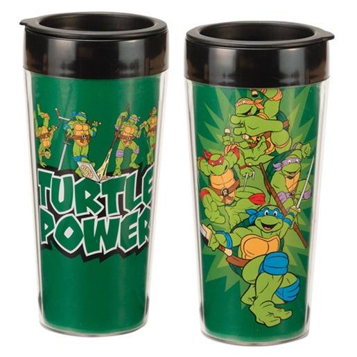 Teenage Mutant Ninja Turtles Group Cast 16oz Travel Mug NEW UNUSED