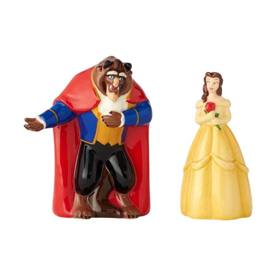 2b0dc2c1 Walt Disney Beauty & the Beast First Dance Ceramic Salt & Pepper Shakers  Set NEW