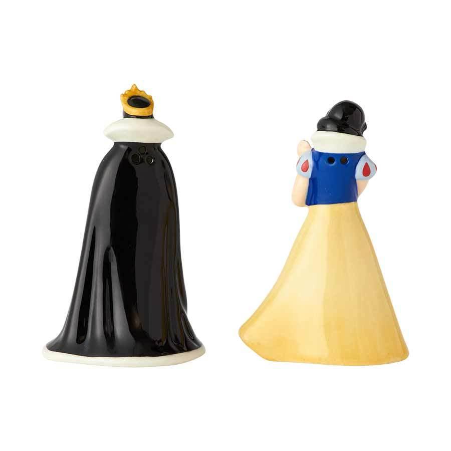 Walt Disney Snow White And The Evil Queen Ceramic Salt Pepper Shakers Set New