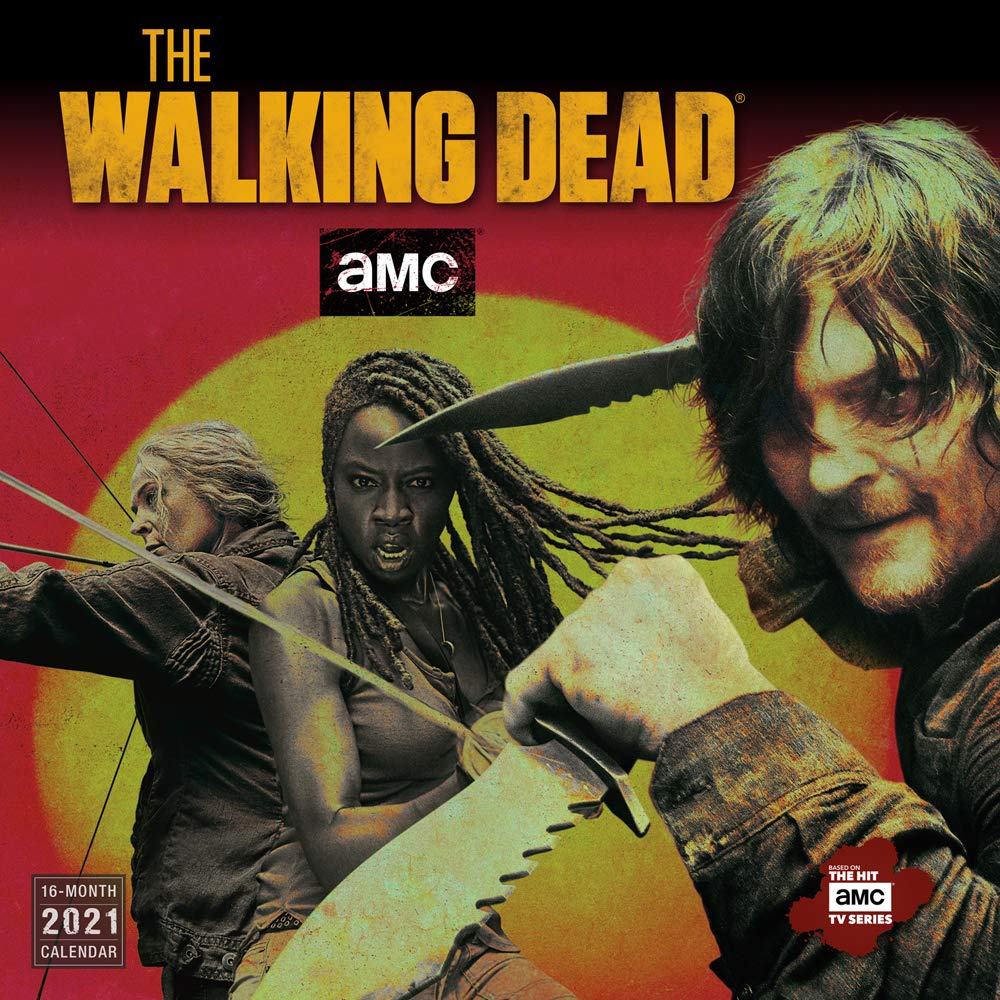 The Walking Dead TV Series 12 Month 2021 Wall Calendar NEW SEALED